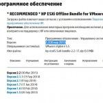 Скачать HP ESXi Offline Bundle for VMware vSphere 5.5 версия 2.2 (30 мар 2015)