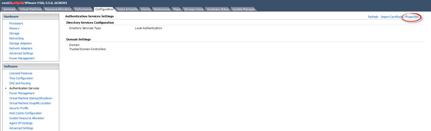 Как добавить ESXI 5.5 в домен Active Directory-01