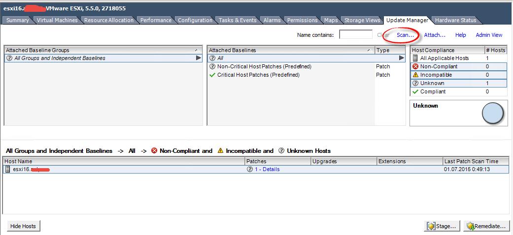 Как добавить свой патч в Update Manager vCenter 5.5-08