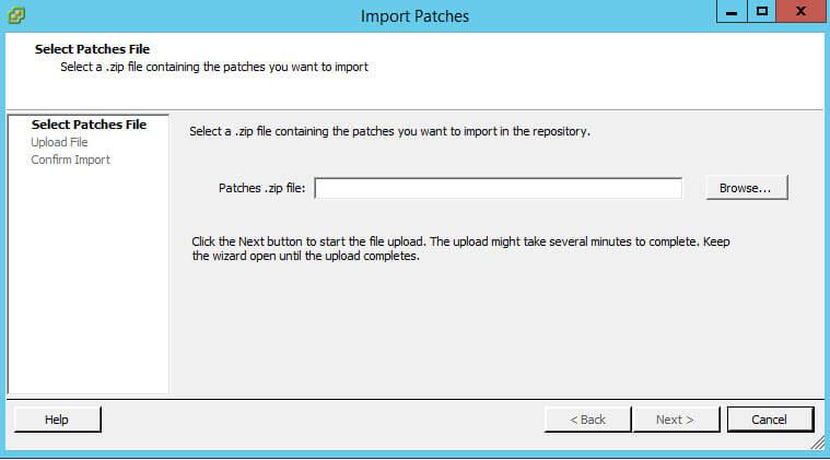 Как импортировать vib драйвер в Update Manager vCenter 5.5-03
