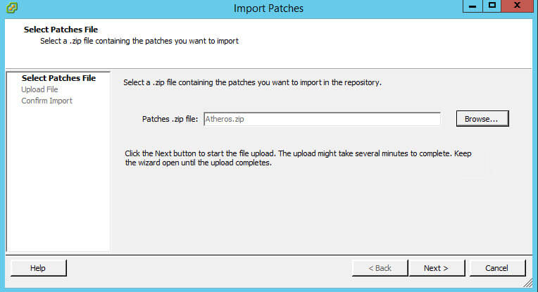 Как импортировать vib драйвер в Update Manager vCenter 5.5-05