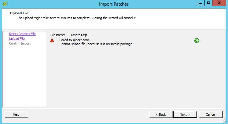 Как импортировать vib драйвер в Update Manager vCenter 5.5-06