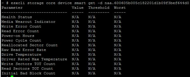 Как мониторить SMART дисков, SSD в RAID на ESXI 5.5-04