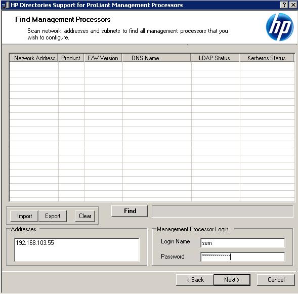 Как настроить аутентификацию Active Directory на HP iLO 3-03