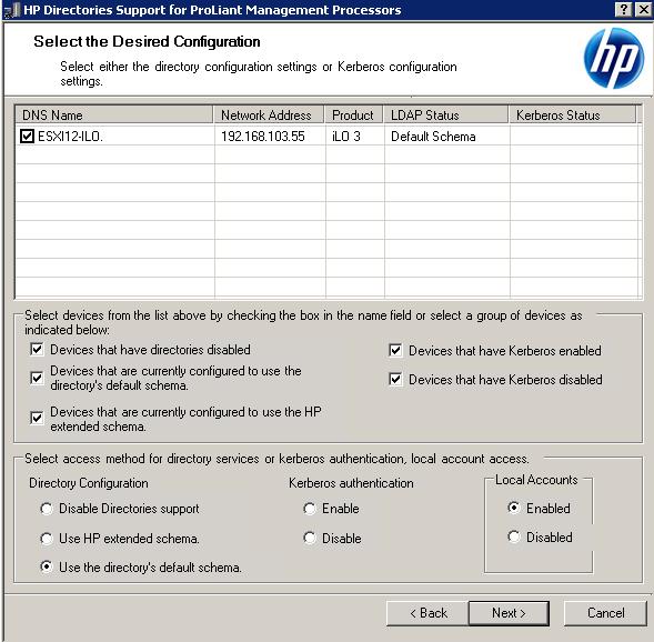 Как настроить аутентификацию Active Directory на HP iLO 3-06