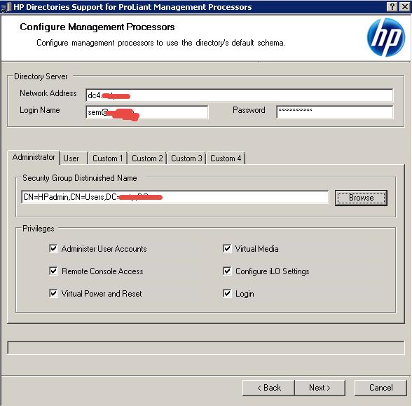 Как настроить аутентификацию Active Directory на HP iLO 3-10