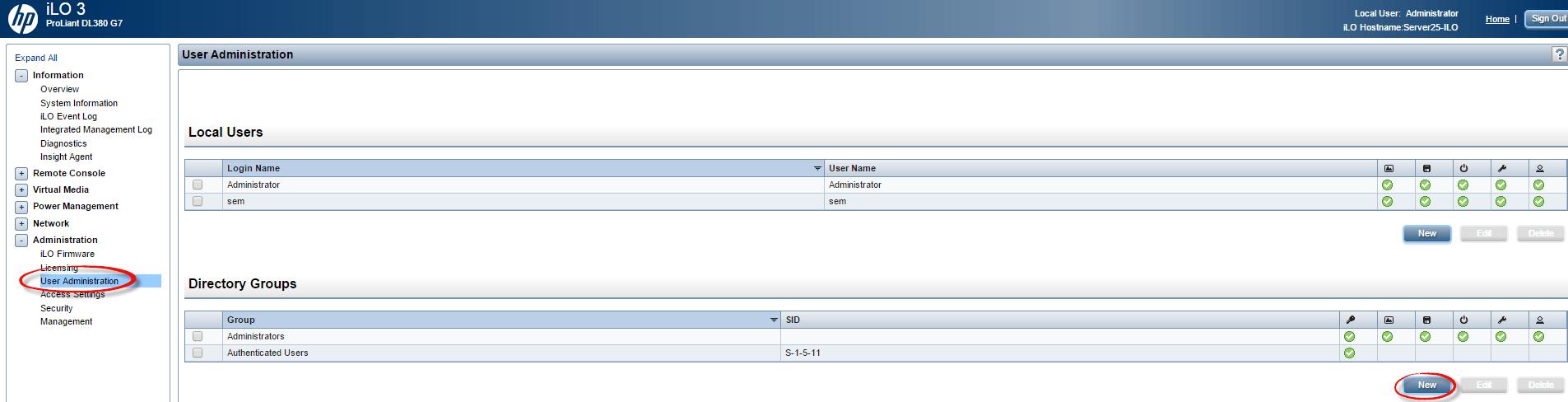 Как настроить аутентификацию Active Directory на HP iLO 3 через WEB интерфейс ILO-01