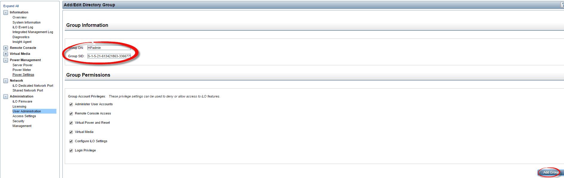Как настроить аутентификацию Active Directory на HP iLO 3 через WEB интерфейс ILO-02