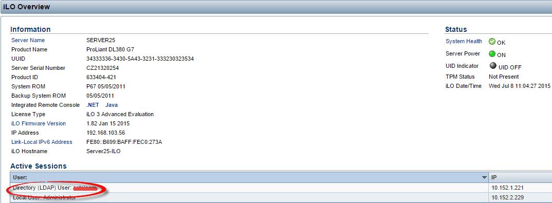 Как настроить аутентификацию Active Directory на HP iLO 3 через WEB интерфейс ILO-07