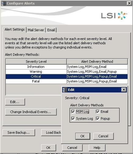 Как настроить email оповещение в LSI MegaRAID-04
