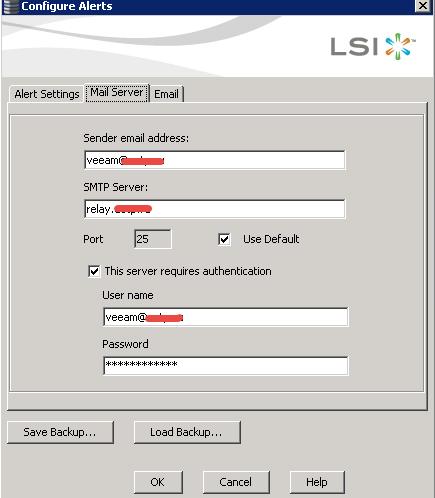 Как настроить email оповещение в LSI MegaRAID-05