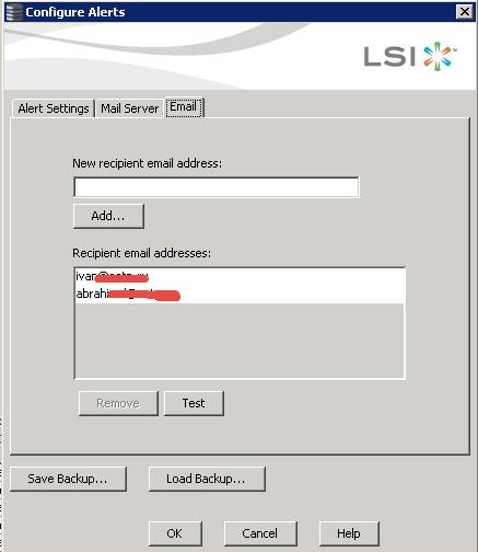 Как настроить email оповещение в LSI MegaRAID-06