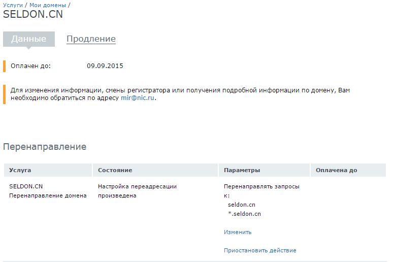 Как настроить перенаправление домена на nic.ru-09