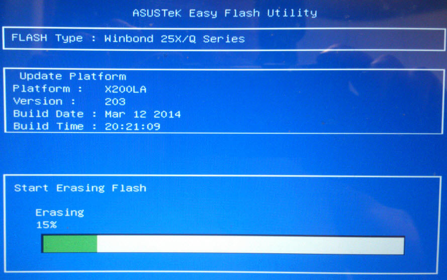 Как обновить BIOS ASUS X200LA-04