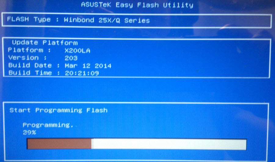 Как обновить BIOS ASUS X200LA-05
