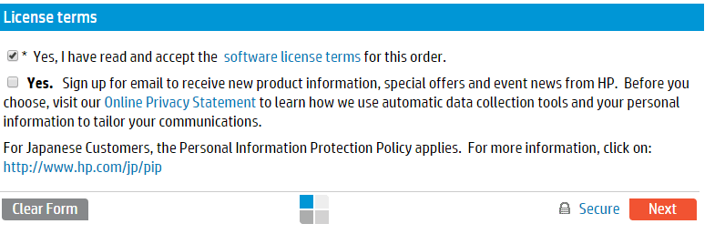 Как получить пробную лицензию HP для ILO порта-04