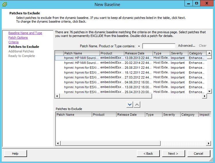 Как создать baseline задание в vCenter 5.5-05