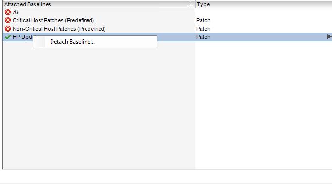 Как создать baseline задание в vCenter 5.5-10