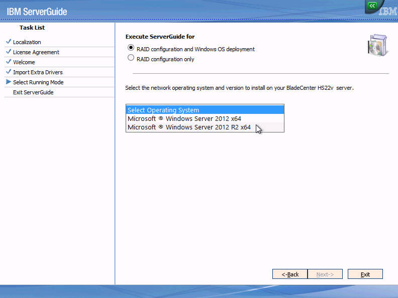 Как установить Windows 2012R2 на блейды IBM Blade HS22-05