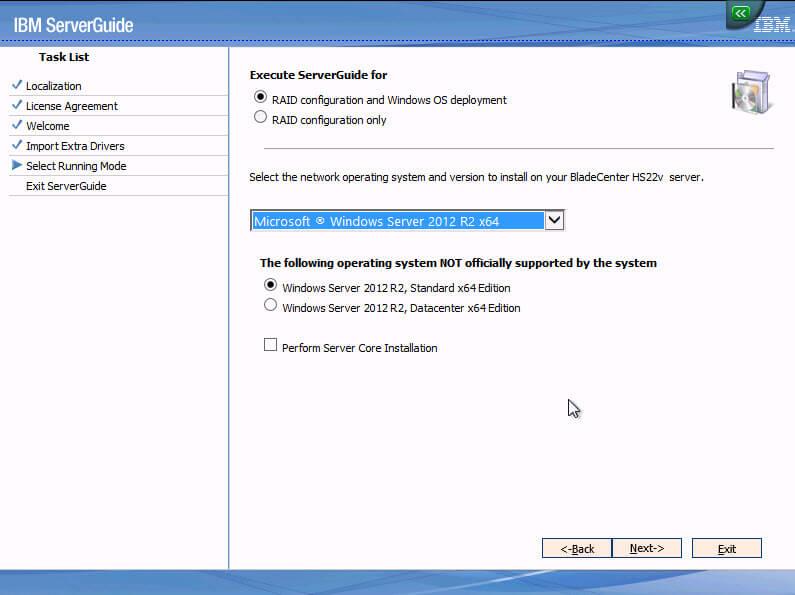 Как установить Windows 2012R2 на блейды IBM Blade HS22-06