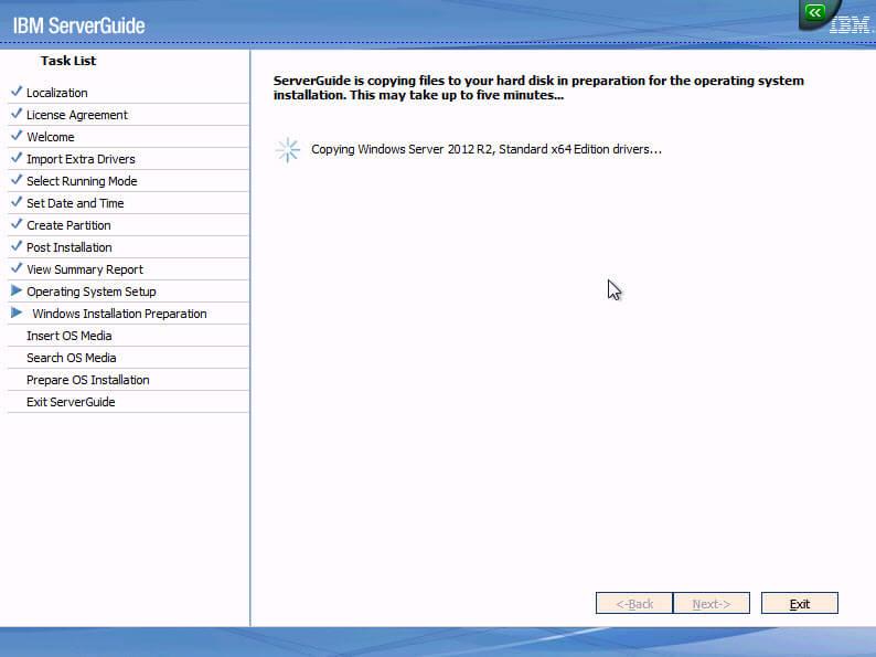 Как установить Windows 2012R2 на блейды IBM Blade HS22-13