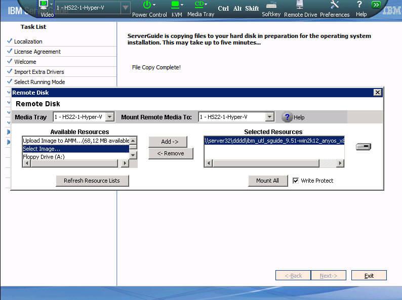 Как установить Windows 2012R2 на блейды IBM Blade HS22-15