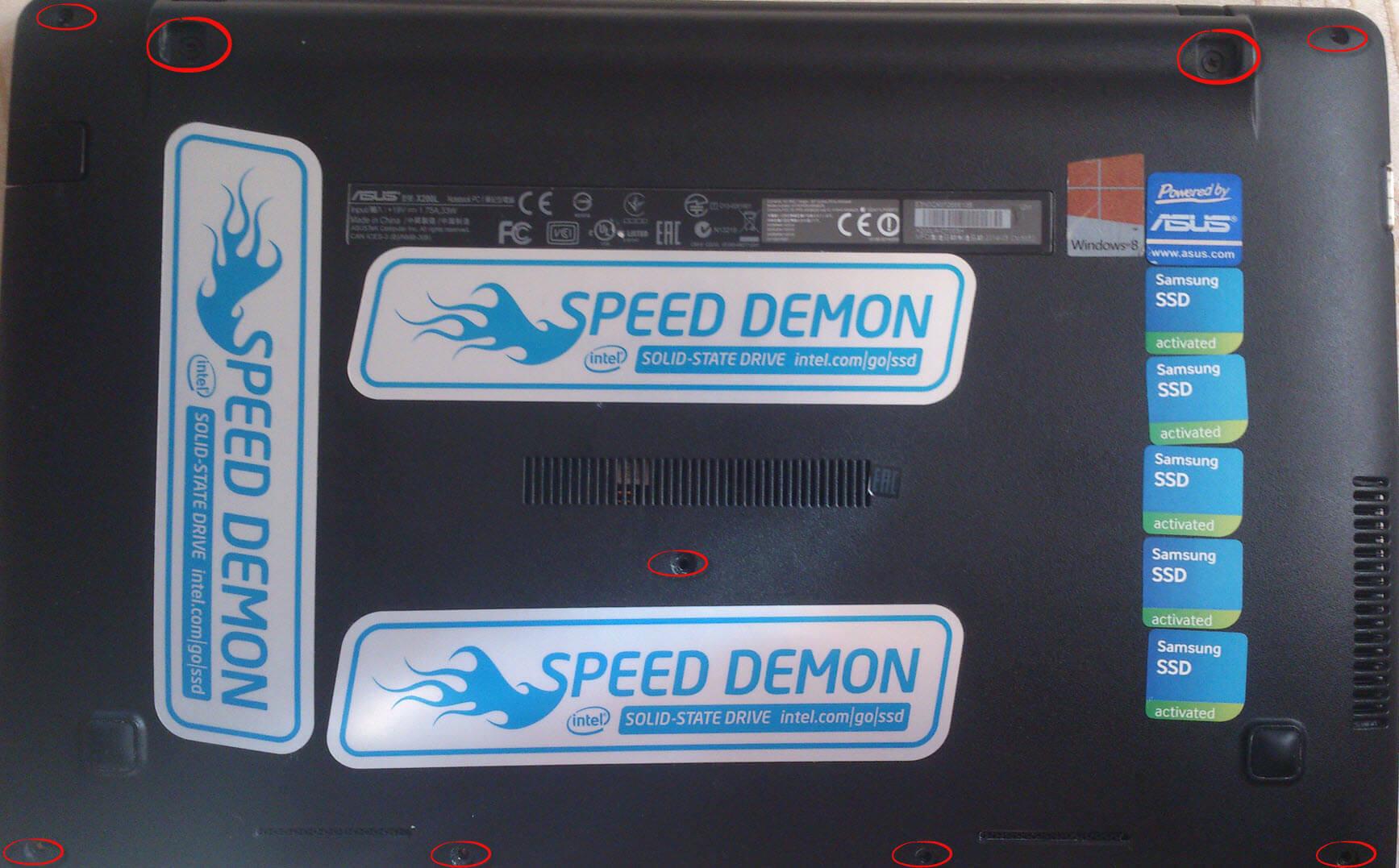 Как заменить HDD на SSD на нетбуке ASUS X200LA-01
