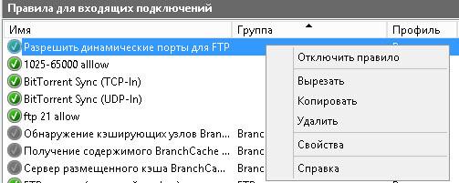 Ошибка в ходе открытия папки на FTP-сервере произошла ошибка-13