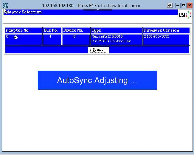 как зайти в RAID утилиту LSI при загрузке сервера-03