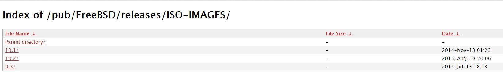 Где скачать ISO FreeBSD release 9, 10.1, 10.2-01