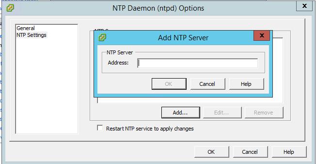Как настроить время и NTP клиента в ESXI 5.5-05