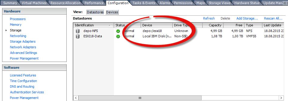 Как подключить NFS диск с Open-e 7 в VMware ESXI 5.5-16
