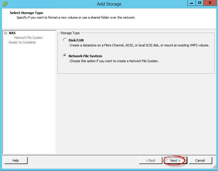 Как подключить NFS диск с Windows Server 2012 R2 в VMware ESXI 5.5-34