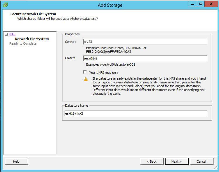 Как подключить NFS диск с Windows Server 2012 R2 в VMware ESXI 5.5-38