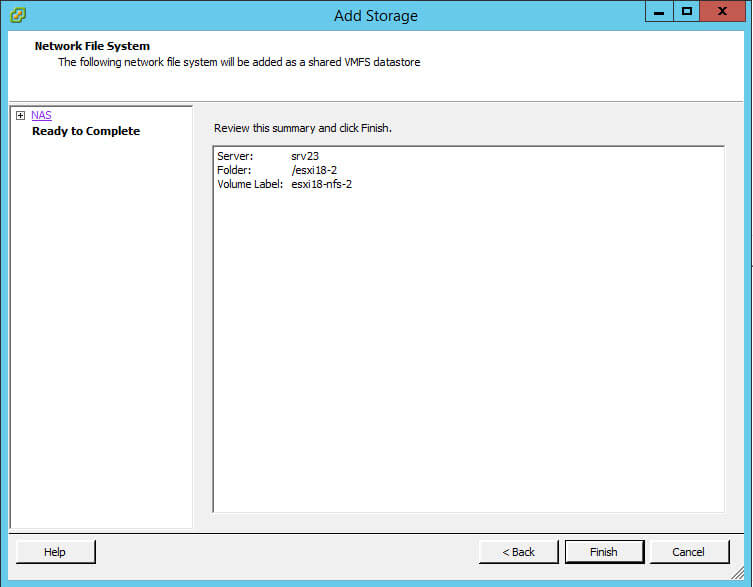 Как подключить NFS диск с Windows Server 2012 R2 в VMware ESXI 5.5-39