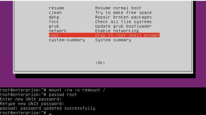 Как сбросить пароль linux-04