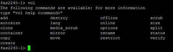 Как создать Volume на NetApp fas2240 через командную строку-01