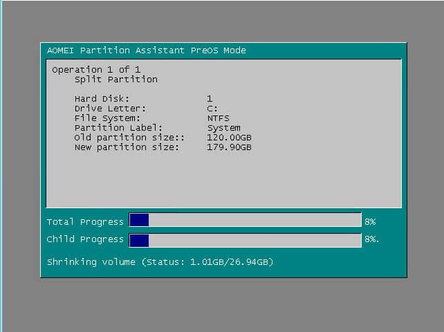 Как сжать системный диск в Windows Server 2008 R2-11