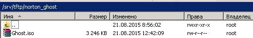 загрузочный PXE сервер копируем дистрибутив