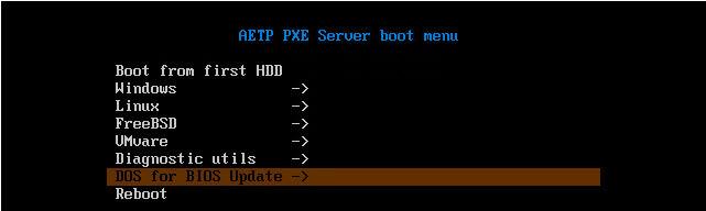 Как установить загрузочный PXE сервер для установки Windows, Linux, ESXI 5.5-16 часть. Добавляем DOS в меню-04