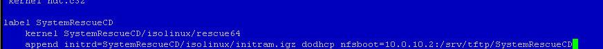 Как установить загрузочный PXE сервер для установки Windows, Linux, ESXI 5.5-17 часть. Добавляем SystemRescueCD-04