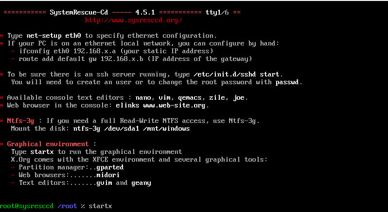 Как установить загрузочный PXE сервер для установки Windows, Linux, ESXI 5.5-17 часть. Добавляем SystemRescueCD-12