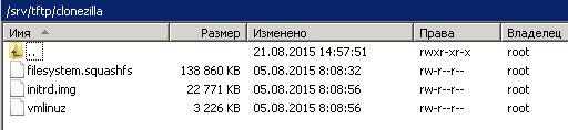 Как установить загрузочный PXE сервер для установки Windows, Linux, ESXI 5.5-18 часть. Добавляем Clonezilla-04