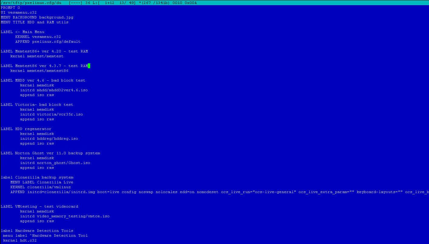 Как установить загрузочный PXE сервер для установки Windows, Linux, ESXI 5.5-18 часть. Добавляем Clonezilla-05