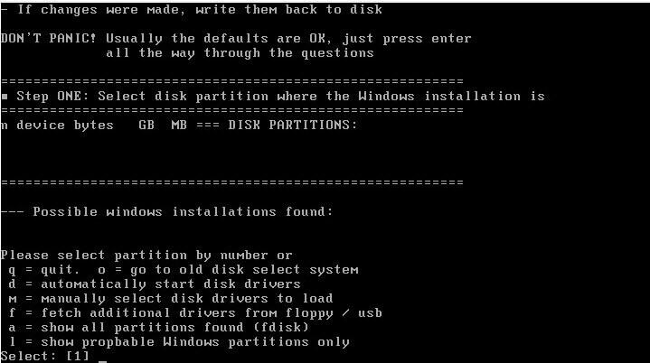 Как установить загрузочный PXE сервер для установки Windows, Linux, ESXI 5.5-18 часть. Добавляем NT Password Registry Editor-08