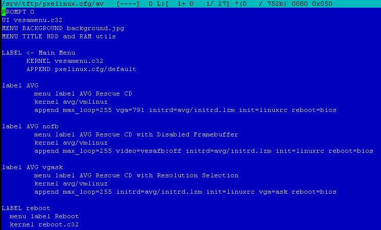 Как установить загрузочный PXE сервер для установки Windows, Linux, ESXI 5.5-20 часть. Добавляем AVG-06