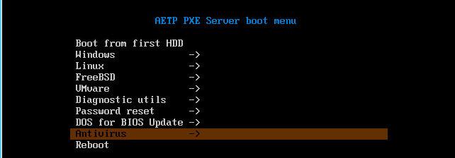 Как установить загрузочный PXE сервер для установки Windows, Linux, ESXI 5.5-20 часть. Добавляем AVG-08