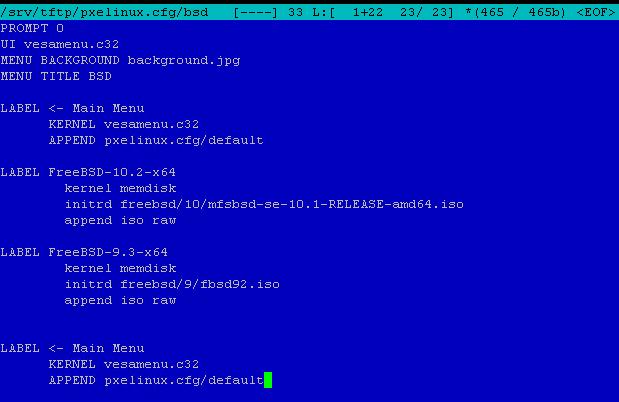 Как установить загрузочный PXE сервер для установки Windows, Linux, ESXI 5.5-6 часть. Добавляем FreeBSD-06