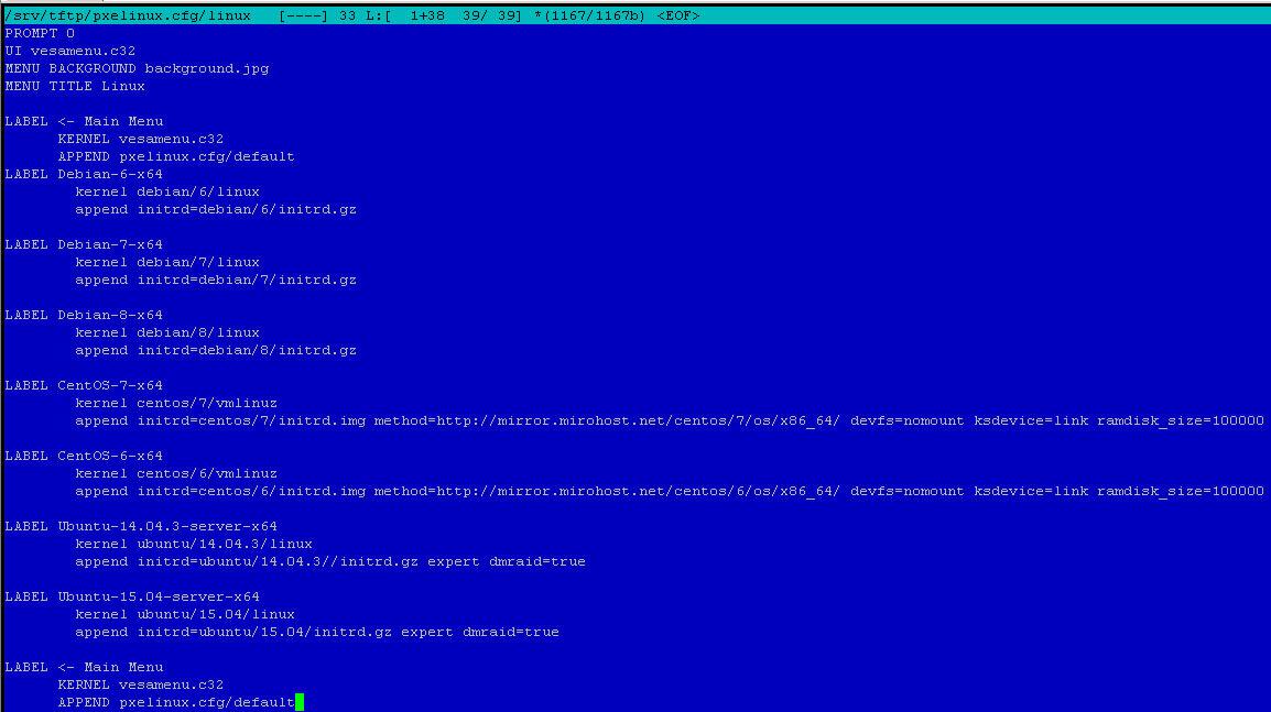 Как установить загрузочный PXE сервер для установки Windows, Linux, ESXI 5.5-7 часть. Добавляем CentOS-07