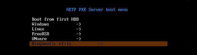 Как установить загрузочный PXE сервер для установки Windows, Linux, ESXI 5.5-8 часть. Добавляем Memtest86+-07